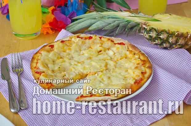 Гавайская пицца с ананасами и курицей фото_17