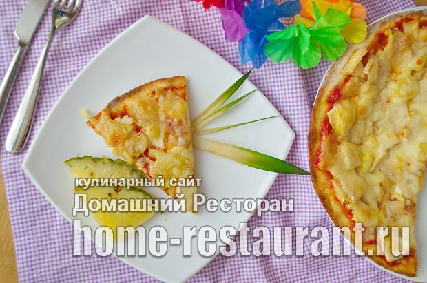Гавайская пицца с ананасами и курицей фото_18