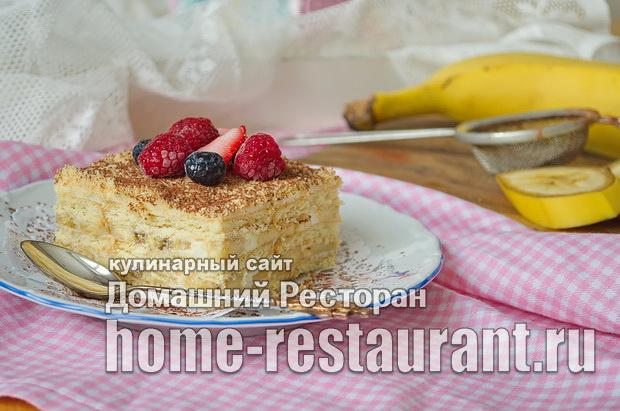 торт из печенья без выпечки со сгущенкой фото_10