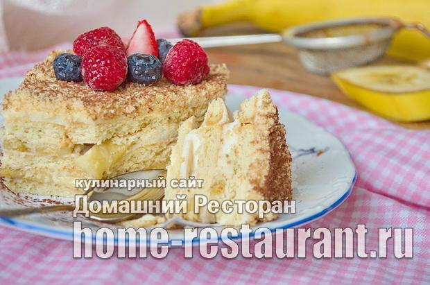 торт из печенья без выпечки со сгущенкой фото_11