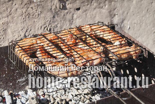Стейк из говядины на мангале фото_6