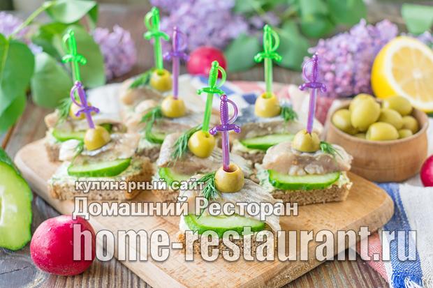 Бутерброды на черном хлебе с селедкой фото_9