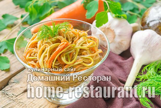 Кабачки с морковью по-корейски фото_05