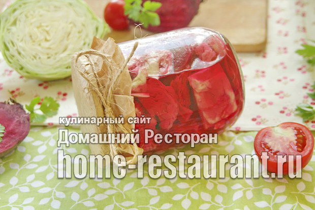 Капуста со свеклой на зиму фото_2