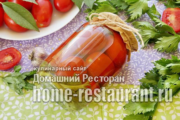 Маринованные помидоры с сельдереем на зиму фото_2