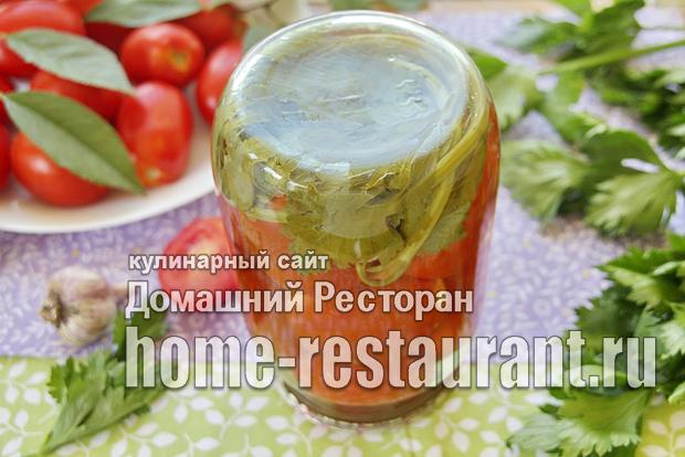Маринованные помидоры с сельдереем на зиму фото_7
