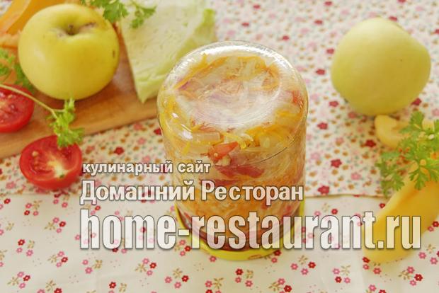 Салат с капустой и яблоками на зиму фото_8