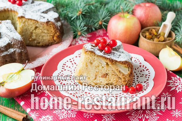 Манник на кефире с яблоками фото, фото рецепт маника на кефире с яблоками