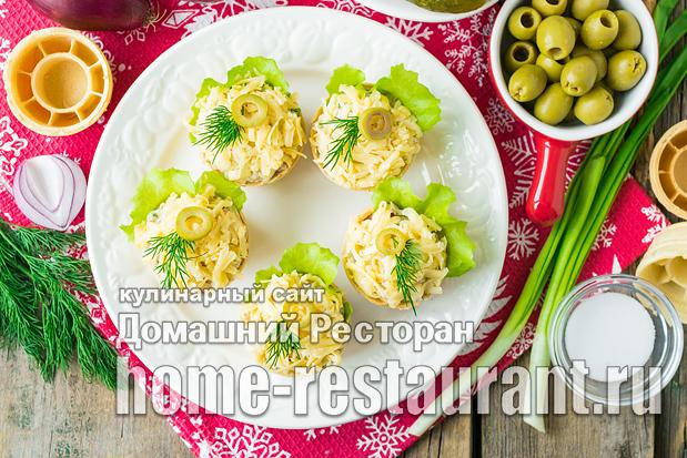 Тарталетки с тунцом фото, фото рецепт тарталеток с тунцом